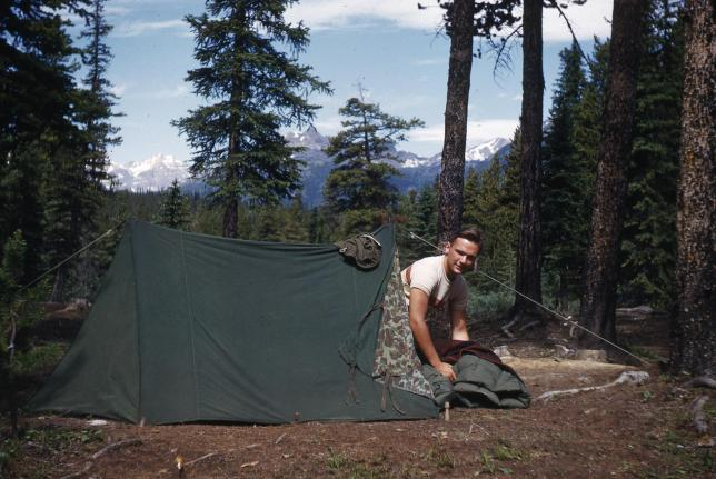 Camping in Alaska the summer after his senior year in High School: 1951.