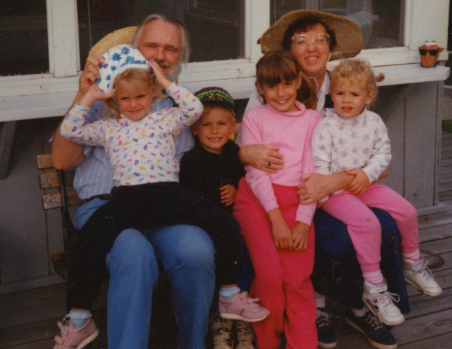 Summer 1994 - babysitting the grandkids