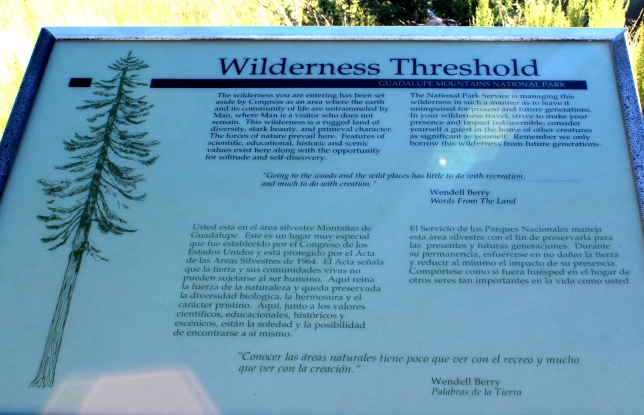 wilderness threshold