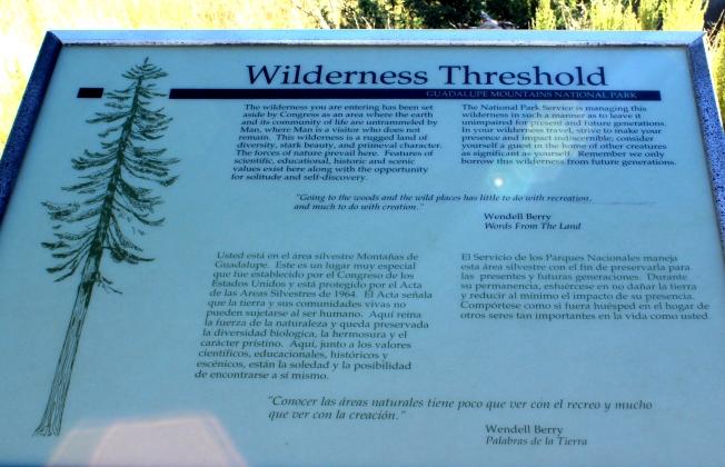 wilderness threshold