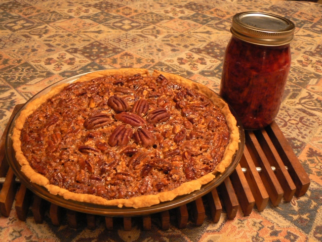 pecan pie & cran orange relish