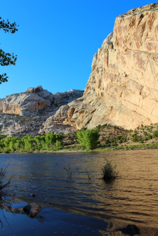 The Green River flows through Dinosaur National Monument