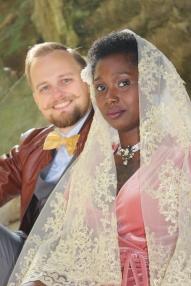 lace veil couple 2